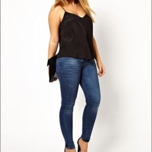 ASOS Curve Black Cami Top Fancy Cami Size 20